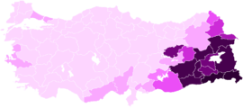 Turkish general election HDP votes by province.png