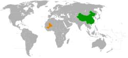 China和Mali在世界的位置