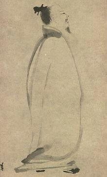 Li Bai Strolling, by Liang Kai (1140–1210)