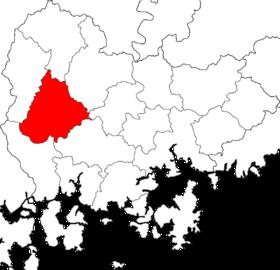 山清郡的位置