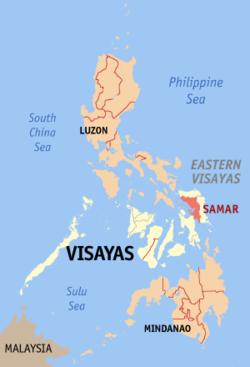 萨马省在菲律宾上的位置