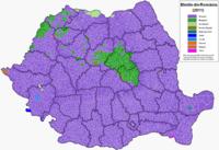 Main ethnicities in the localities (2011)