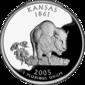 Kansas quarter dollar coin