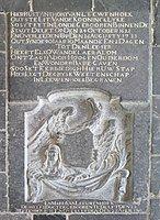 Gravestone with Dutch inscription