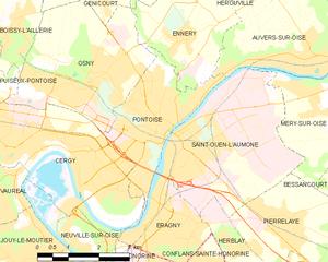 蓬图瓦兹市镇地图