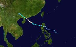 台风派比安的路径图