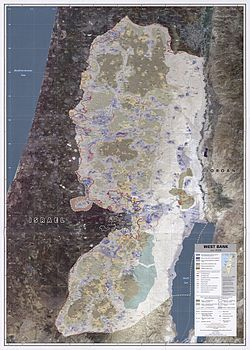 Map of the West Bank that is under authority of the Civil Administration. Israel ended exercise of authority over the Gaza Strip in 2005.