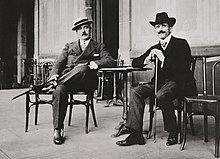 Giacomo Puccini with conductor Arturo Toscanini