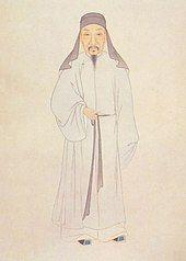 A Qing dynasty scholar in traditional dress