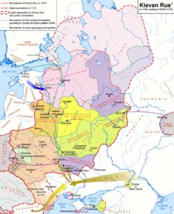 基辅罗斯全盛时期的疆域 (含附属地)