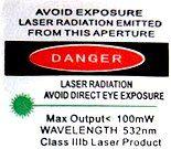 US laser warning label