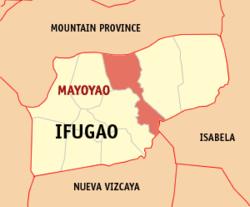 Map of Ifugao with Mayoyao highlighted