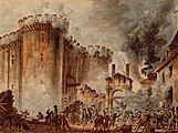 """""""Storming of the Bastille"""" by Jean-Pierre Houël"""