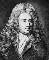 Black and white sketch of Antoine Galland