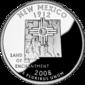 New Mexico quarter dollar coin