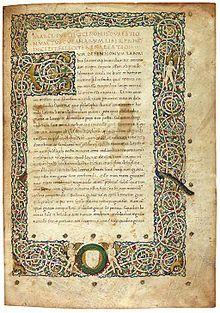 Cicero - Tusculanae Disputationes illuminated manuscript.jpg