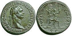 A sestertius of Domitian