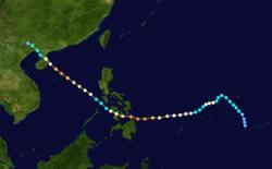 颱風艾克的路径图