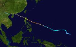 超强台风高莲的路径图