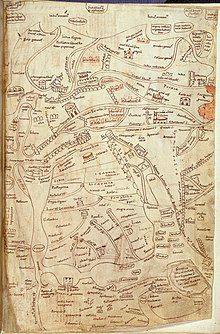 A detailed map of Palestine from the 12th century