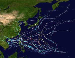 1953 Pacific typhoon season summary map.png