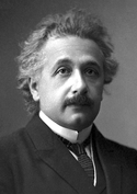 Albert Einstein's official portrait after receiving the 1921 Nobel Prize in Physics