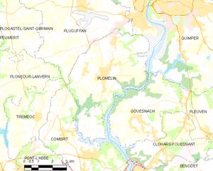 普洛姆兰市镇地图
