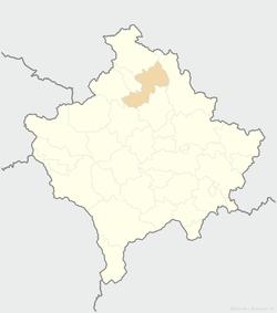 米特罗维察在科索沃的位置