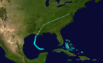 1905 Atlantic tropical storm 5 track.png