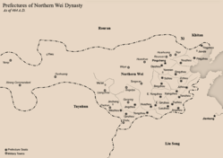 Northern Wei administrative divisions as of 464 AD