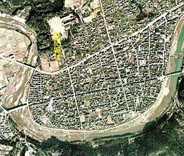 饫肥城迹空中照片 (1974年摄、国土航空照片)