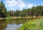 明格斯山附近的湖泊