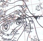 Typhoon Ida September 24, 1966 surface analysis.png