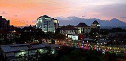 Malang cityscape at dusk