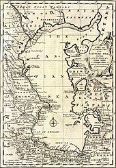 A map of the Caspian Sea in the mid 1700s