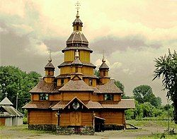 Church of the martyrs of Boris and Hlib. Zhydachiv.