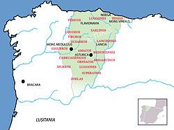 Historical map of northern Spain