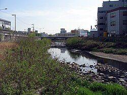 流经义王市的安养川(朝鲜语:안양천)上流
