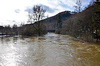 Donau bei Hochwasser, Beuron im Landkreis Sigmaringen.jpg