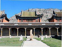车车尔勒格的一座喇嘛庙
