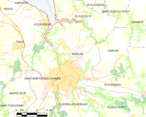 莫尔莱市镇地图