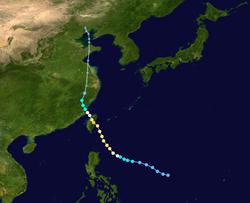 台风桃芝的路径图