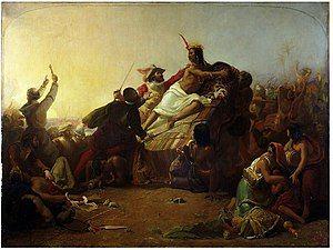 John Everett Millais - Pizarro seizing the Inca of Peru.jpg