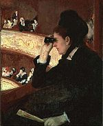 In the Loge by Mary Cassatt