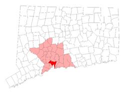 L在纽黑文县内的位置