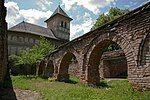 RO MH - Mănăstirea Strehaia (Beciurile palatului domnesc).jpg