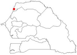 圣路易在塞内加尔的位置