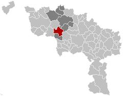Beloeil Hainaut Belgium Map.png