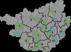 Tian'e is located in Guangxi