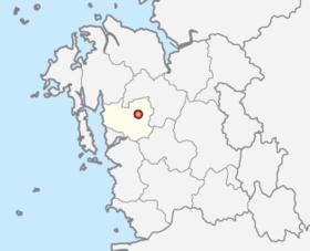 洪城郡的位置
